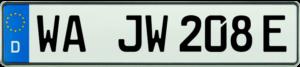 KFZ E Kennzeichen WA 520x110