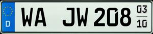 KFZ Kennzeichen Saison WA 520x110