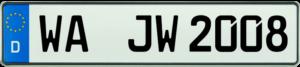 KFZ Kennzeichen WA 520x110