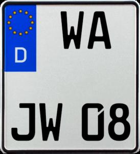 Motorrad Kennzeichen WA 180x200