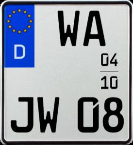 Motorrad Saison Kennzeichen WA 180 x 200