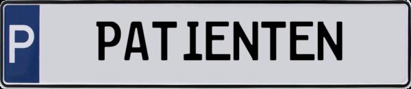 Parkplatzschilder Patienten